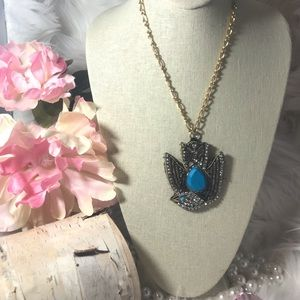 Juicy Couture  Bird Pendant Gold Necklace